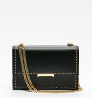 Mara cocktail bag black pin stud front