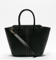 Tribecca satchel pin stud black