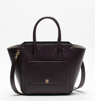 Tribeca satchel pin stud black back