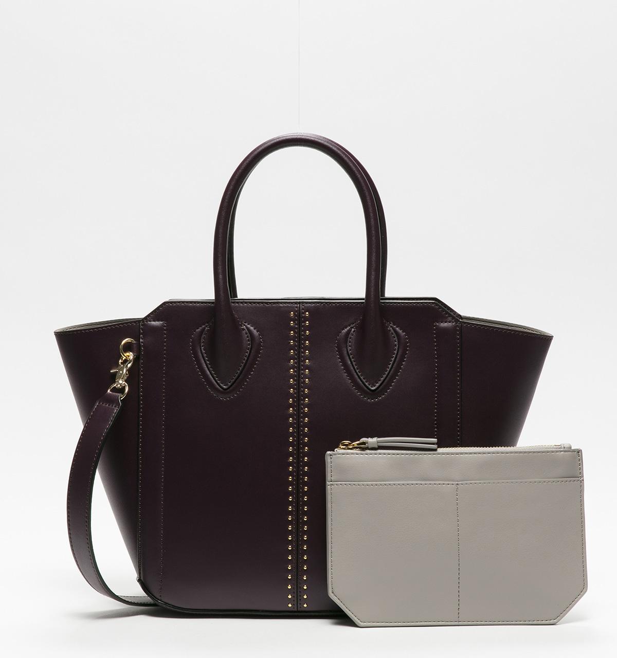 Ivanka Trump Tribeca Satchel - Pin Stud (Plum) Handbags 8NHPWH