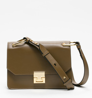 Hopewell shoulder olive bag front