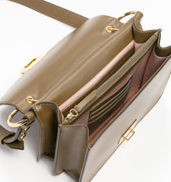 Hopewell shoulder olive handbag inside