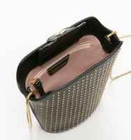 Claudia mini bucket bag pin stud interior