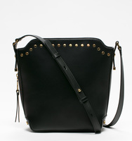 Claudia bucket bag black front