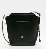 Claudia bucket black bag