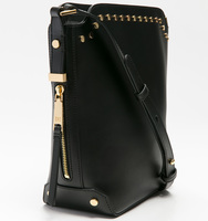 Claudia bucket handbag black side