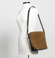 Claudia bucket bag suede body