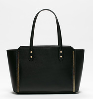 Soho top zip shopper bag black