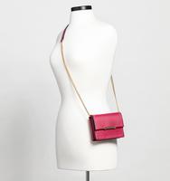 Mara mini shoulder pin stud cerise cross body