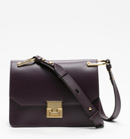 Hopewell mini shoulder plum bag front