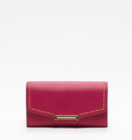 Mara crossbody wallet cerise pin stud