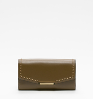 Mara crossbody wallet olive pin stud