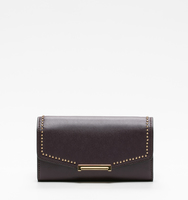 Mara crossbody wallet plum pin stud