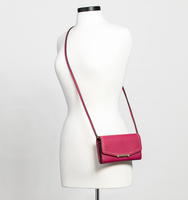 Mara crossbody wallet pin stud cerise body
