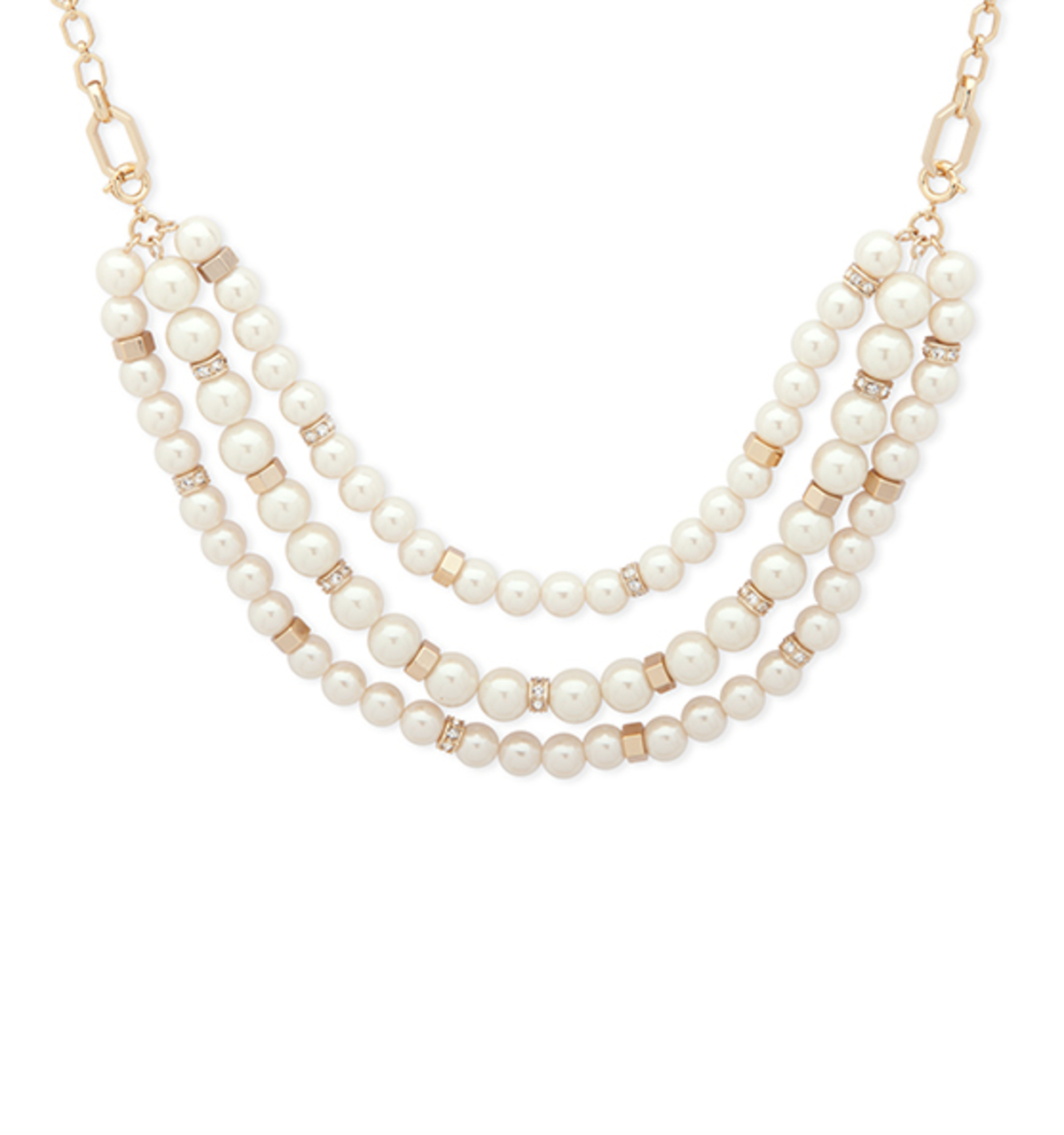 Adjustable multi row necklace