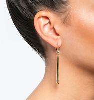 Linear earrings gold