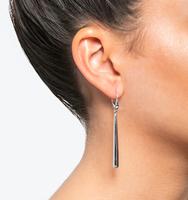 Linear earrings silver