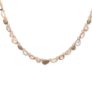 Multi stone collar necklace