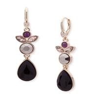Multi stone double drop earrings