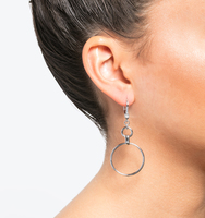 Orbital drop earrings silver