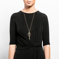 Pendant drop necklace silver