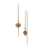 Star threader earrings