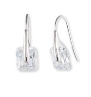Stone drop earrings   silver