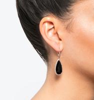 Teardrop silhouette earrings black
