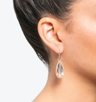 Teardrop silhouette earrings silk