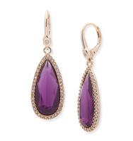 Teardrop silhouette earrings purple