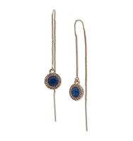 Threader earrings   blue