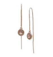 Threader earrings silk