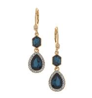 Three in one drop earrings blue