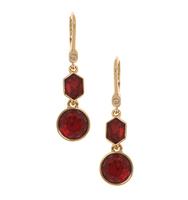 Three in one drop earrings red 2