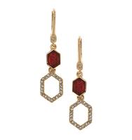 Three in one drop earrings red 3
