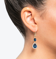 Three in one drop earrings blue 1