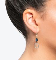 Three in one drop earrings blue 2