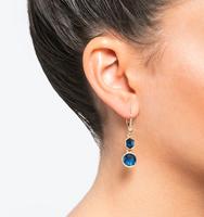Three in one drop earrings blue 3