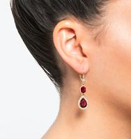 Three in one drop earrings red 1