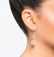 Three in one drop earrings silk 1