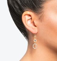 Three in one drop earrings silk 2