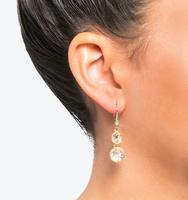 Three in one drop earrings silk 3