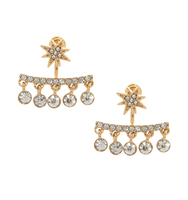 Three set earrings gold