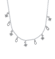 Two in one star necklace silver 2