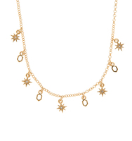 Two in one star necklace gold 2
