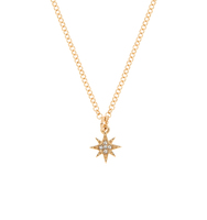 Two in one star necklace gold 3