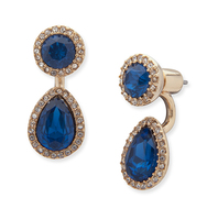 Two way floater earrings blue