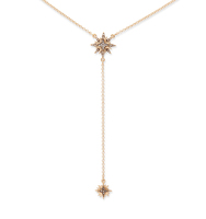 Y shaped star necklace