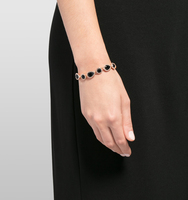 Jeweled flex bracelet black 2