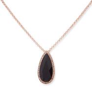 Double pendant necklace black 3